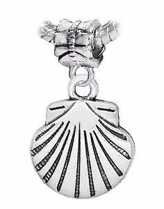 Scallop-Shell-Seashell-Beach-Sea-Dangle-Bead-for-Silver-European-Charm-Bracelet