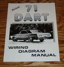 1971 Dodge Dart Revised Wiring Diagram Manual 71