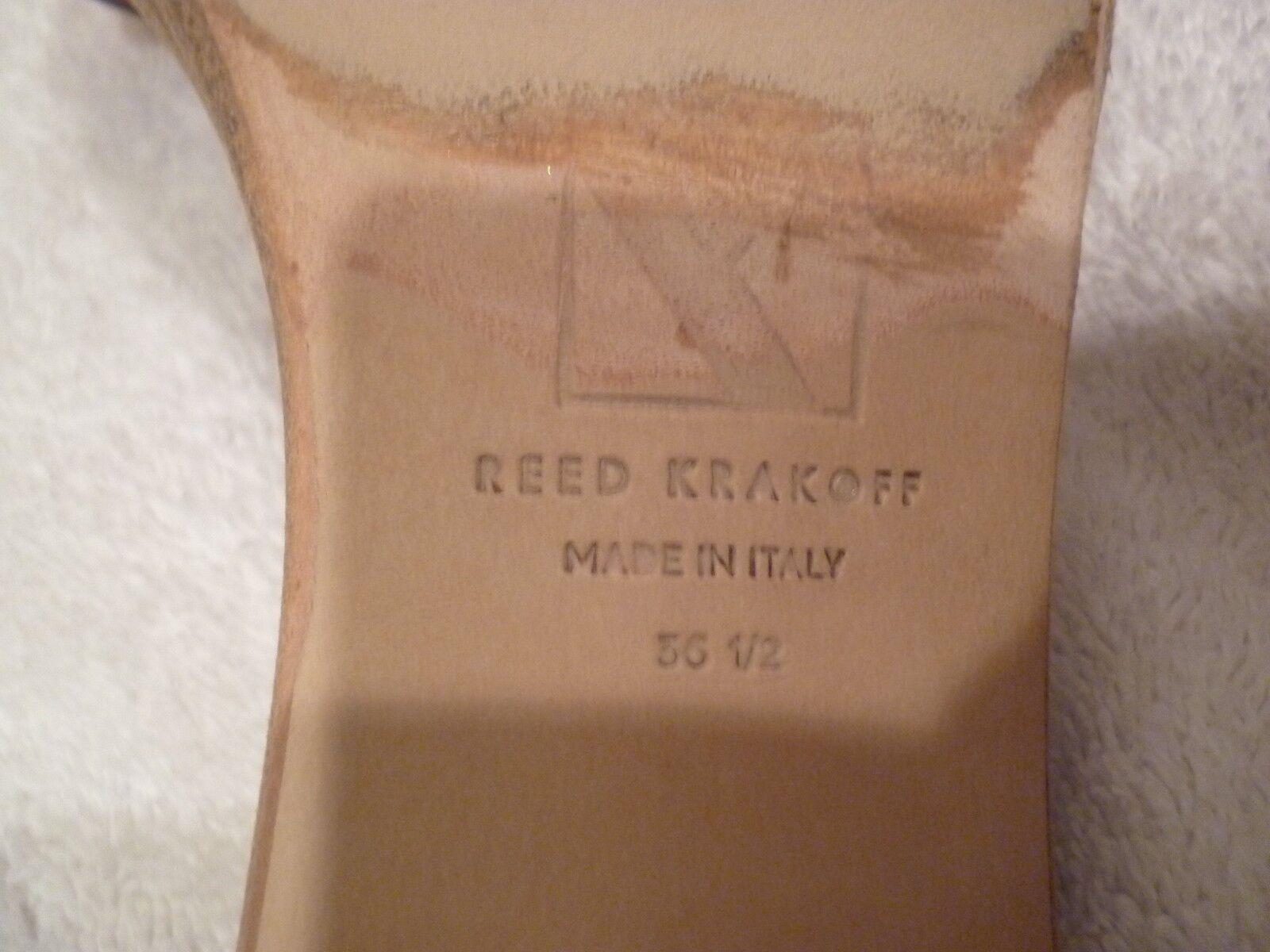 REED nude KRAKOFF ankle wrap nude REED Sandales heels SZ 36.5/6.5 75793e
