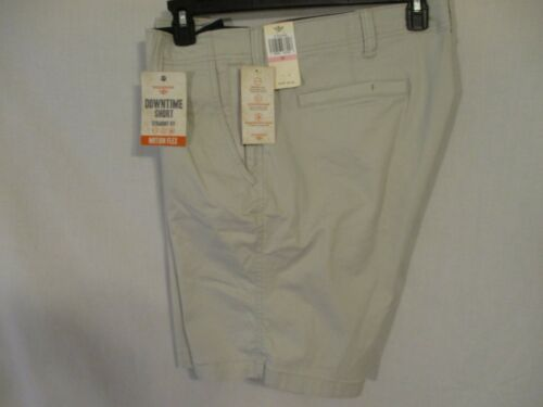 """Dockers Cotton Blnd Beige /""""DownTime/"""" Straight Fit Flat Casual Shorts SR$52 NEW"""