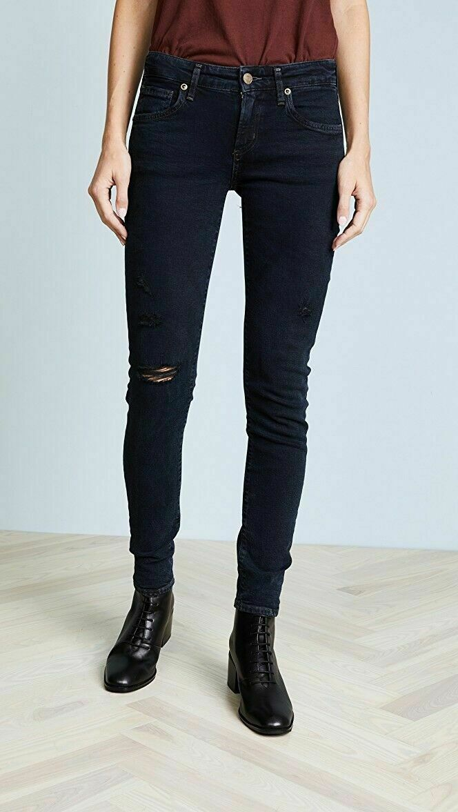 AgoldE Lara Low Rise Distressed Skinny Jeans in Drifter Size 24 NWT  148