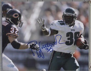 BRIAN WESTBROOK EAGLES 8X10 AUTOGRAPHED PHOTO..STEINER