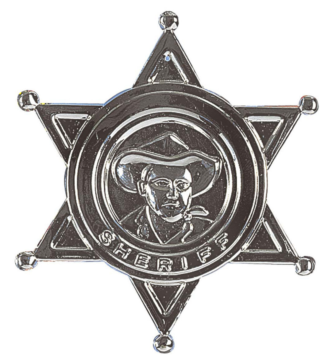 Cowgirl Sheriff Badge Earrings Western Fancy Dress Halloween Costume Accessory