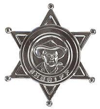 SHERIFF BADGE COWBOY METAL WESTERN FANCY DRESS ACCESSORY WILD WEST