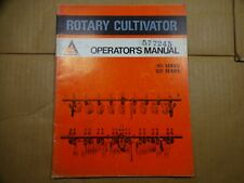 Allis Chalmers Rotary Cultivator 101 201 Series Operators Manual 973