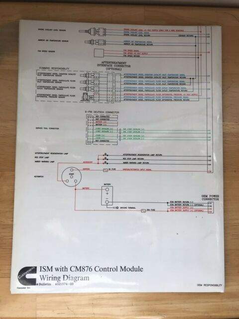Cummins 4021574 Ism Cm876 Wiring Diagram