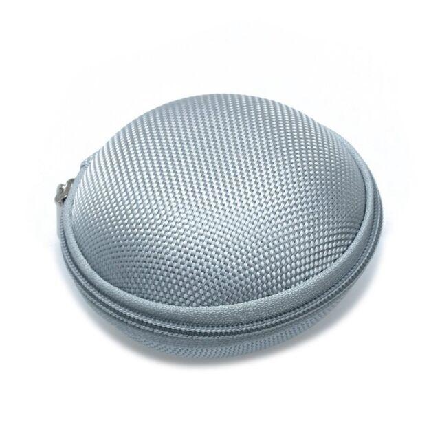 Mini Beutel Mappe fuer Kopfhoerer Segeltuch graue Farbe C1X3