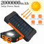 thumbnail 1 - 2000000mAh Power Bank 2USB Backup External Battery Pack Charger for Cell Phone