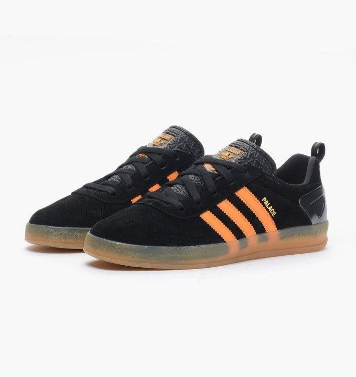 Adidas Palace Pro Core Negro Brillante X Naranja AQ5148