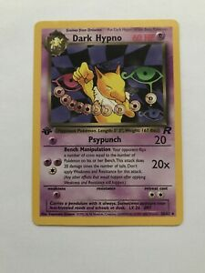 Dark Hypno 26//82 Team Rocket Pokemon Card LP Condition #