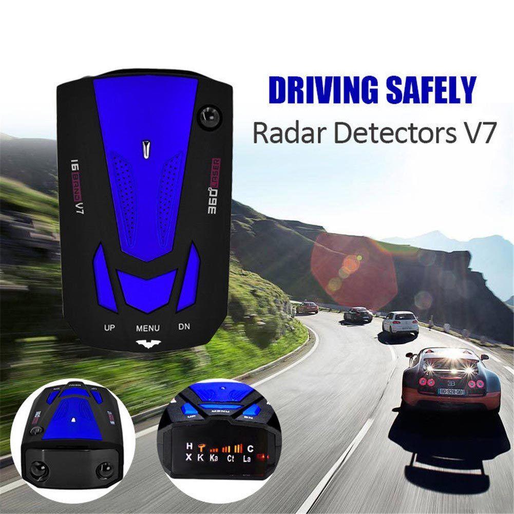 V7 360 grados 16 banda digitalizar LED avisadores de radar láser auto las pruebas de velocidad