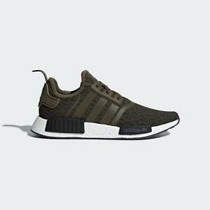 96c5b6ab6 adidas Originals NMD R1 Shoes AQ1018 Olive Green Army Cargo Boost ...