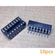 10Stk 16-Pin 16P Narrow DIP IC Sockets Adaptor Solder Type Socket