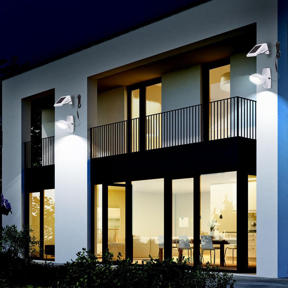 2 x applique solaire luminaire mural LED éclairage détecteur de mouvement DEL