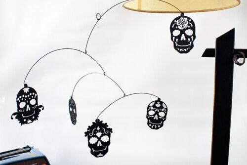 Salty and Sweet Dia de los Muertos Sugar Skulls Modern Hanging Mobile Decoration
