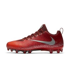 a78bcb6e2a84 Men s Nike Vapor Untouchable Pro Football Cleats - Red Silver - NIB ...