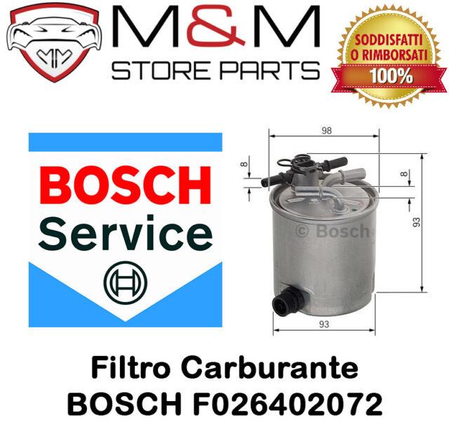 Filtro Carburante BOSCH F026402072 per DACIA-SUZUKI (WK9008-KL404/16-FCS749)