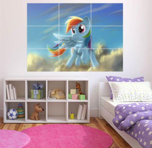 MY LITTLE PONY RAINBOW DASH WALL ART POSTER 260GSM 126CM X 89CM