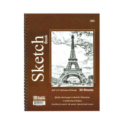 US SHIP Each 30 Sheets Side Bound Spiral Premium Sketch Book 8.5 X 11 inches