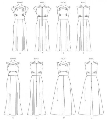 Butterick Sewing Pattern 6130 elegante señoras de fácil vestidos /& Mono pero..