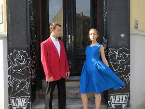 donna Blue Dress Bright Dress da Vintage 60's Petticoat donna da color True blu lucido wSvqnxF
