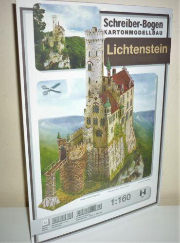 KARTONMODELLBAU    Burg LICHTENSTEIN    SCHREIBER-BOGEN  733