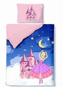 bettw sche 100x135 baumwolle kinder prinzessin princess ballerina rosa m dchen ebay. Black Bedroom Furniture Sets. Home Design Ideas