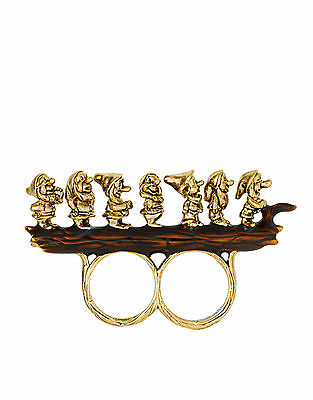 vintage retro style seven dwarfs ring necklace set multiple choices