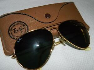 Details About Original Bausch Lomb Ray Ban Aviator Sunglasses G15 Lens 62 14 10