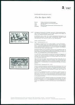 Brd Ministerium AnkÜndigungsblatt 1987/5 Sport Segeln Skilanglauf Rare! Z2948