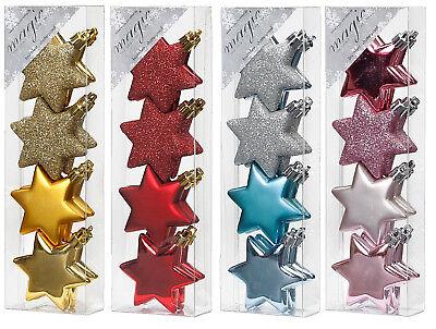 Kunststoff Geschenkbox 6,5cm 4 Stk gold //// PVC bruchfest Christbaumkugeln Christbaumschmuck Deko Weihnachtskugeln Weihnachtsschmuck Baumschmuck Set
