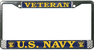 US-NAVY-VETERAN-HIGH-QUALITY-METAL-LICENSE-PLATE-FRAME-MADE-IN-THE-USA