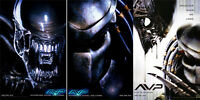 Alien Vs Predator • Mini-sheet Movie Posters • Set Of 3 • 2004