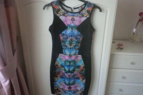 Negro/Multi Body con vestido Talla 10