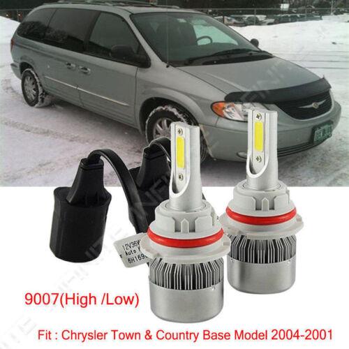 For Chrysler Town/&Country Base Model 2004-2001 LED Headlight Kit Bulbs 2PCS 9007