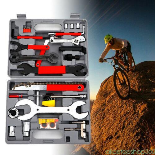 44pc Professional Bike Bicycle Repair Tool Mountain Bike Patch Outdoor Repairing