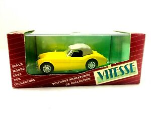 VITESSE AUSTIN HEALEY 3000 COUPE HARD-TOP YELLOW #172  MADE IN PORTUGAL #113A