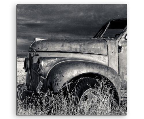 Wandbild Naturfotografie Alter Truck auf Leinwand