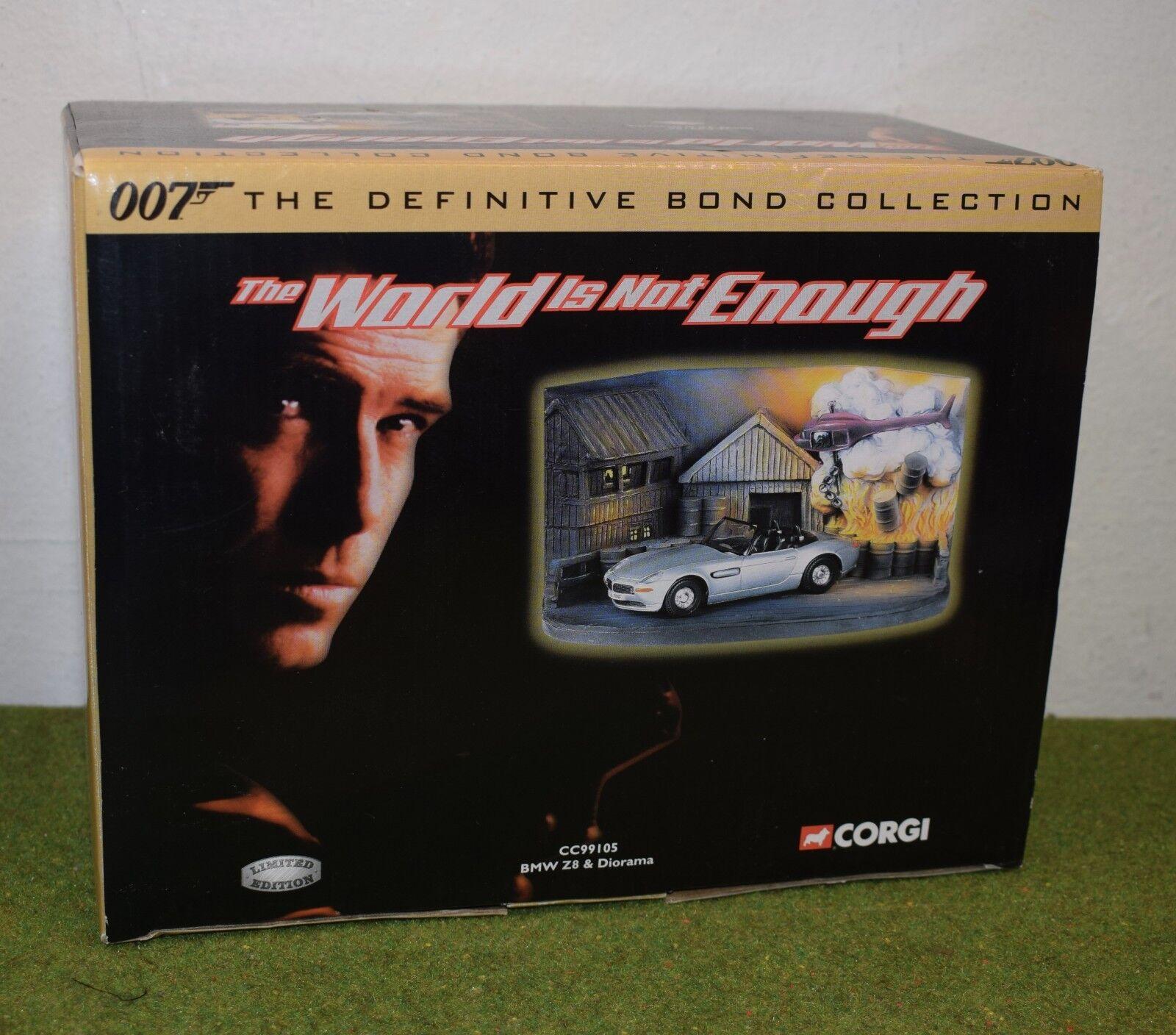 JAMES BOND 007 CORGI CC99105 BMW Z8 & DIORAMA THE WORLD IS NOT ENOUGH