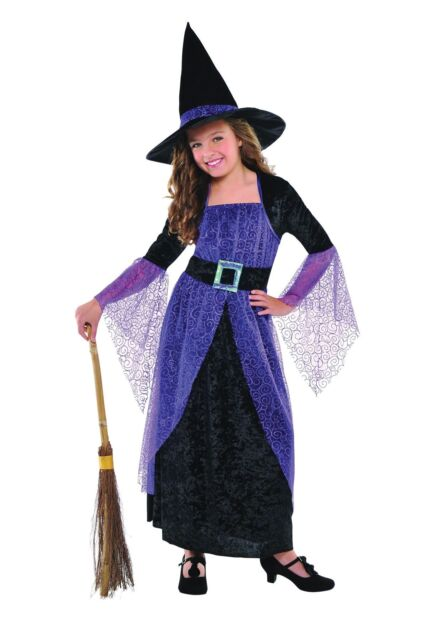Childrens Girls Pretty Potion Witch Halloween Costume Fancy Dress Outfit 3-5 Yrs  sc 1 st  eBay & Child Pretty Potion Witch Costume Girls Halloween Witches Fancy ...