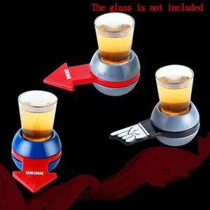 Spin-Shot-Drinking-Game-Turntable-Roulette-Glass-Spinning-Party-Home-Adult-to-US