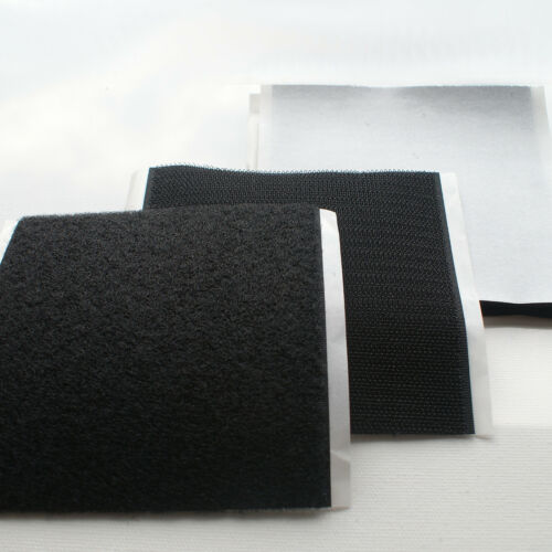 10cm SELBSTKLEBENDES Industrie KLETTBAND 20//25//38//50//100mm x 100mm