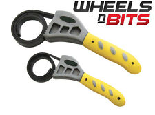 """2pc 1/2"""" and 3/4"""" Inch Strap Wrench Set Rubber strap adjusts to fit any shape"""