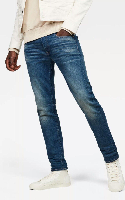 G Star Raw 3301 Slim, Hydrite Denim Jeans Mens W27 L34