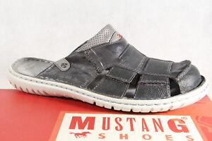 Mustang-hombre-zapato-abierto-gris-con-Suave-Suela-Interior-4087-NUEVO