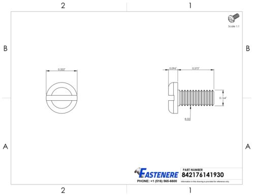 8-32 Pan Head Machine Screws Slotted Drive Stainless Steel All Sizes Available