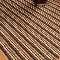 Natural Jute Cotton Wool Area Rug Basilica Hand Woven Elegant Durable 8' x 10' Home Furnishings