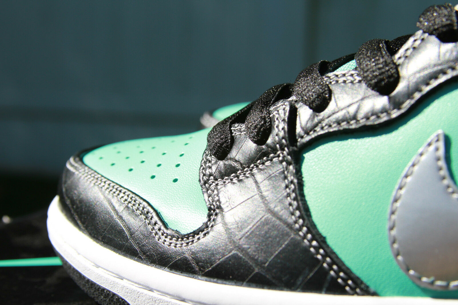 NIKE SB  DIAMOND TIFF   DUNK  PREM QS (10) 653599-400 AQUA CHROME - FREE SHIP