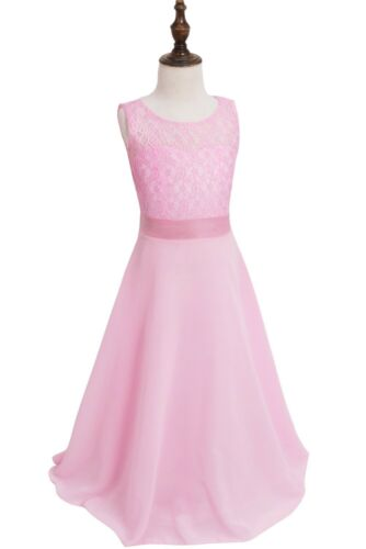 Girl Flower Dress Princess Party Pageant Wedding Bridesmaid Maxi Prom Gown Dress