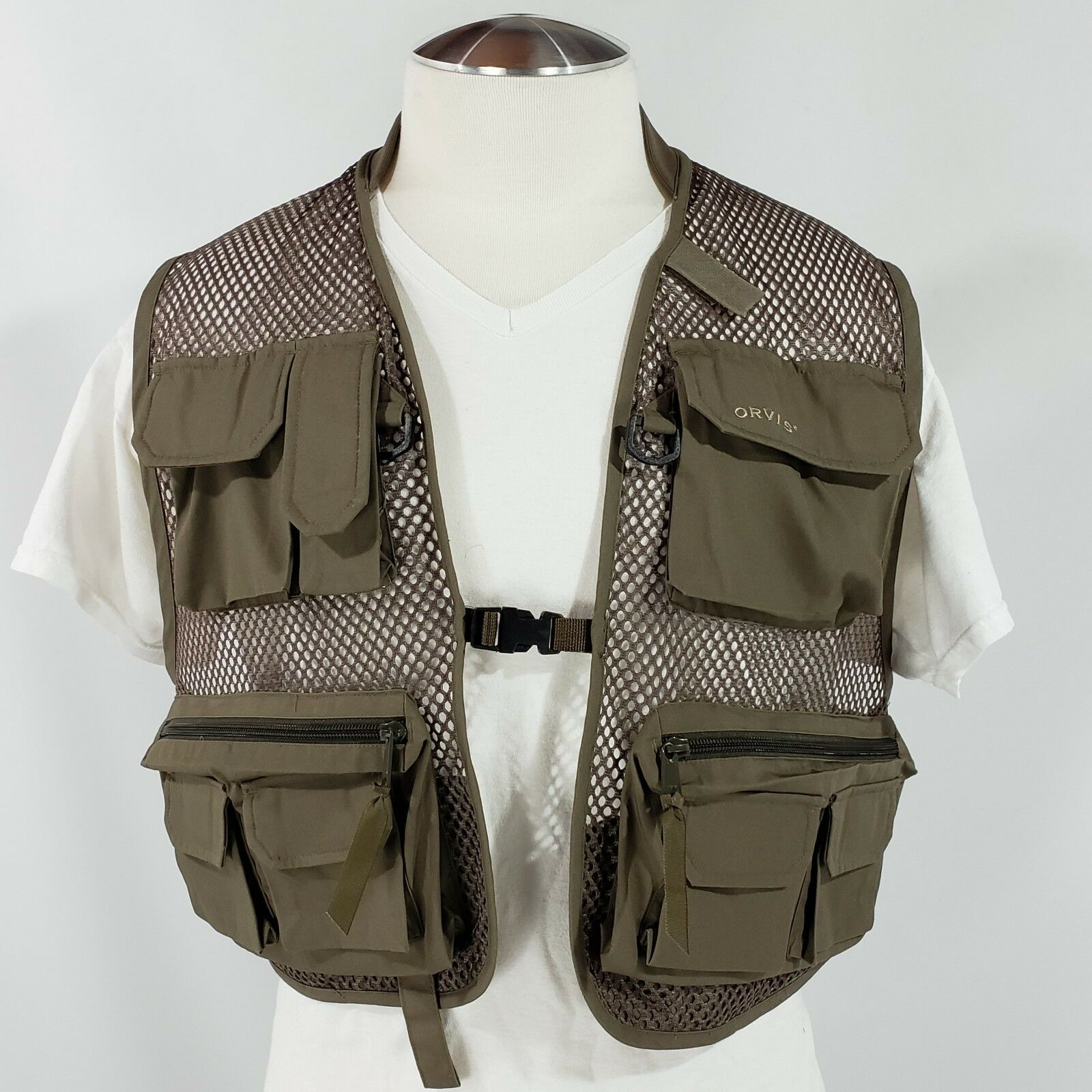 Orvis  Clearwater Fly Fishing Mesh Vest Olive LKNW Size Medium  best fashion